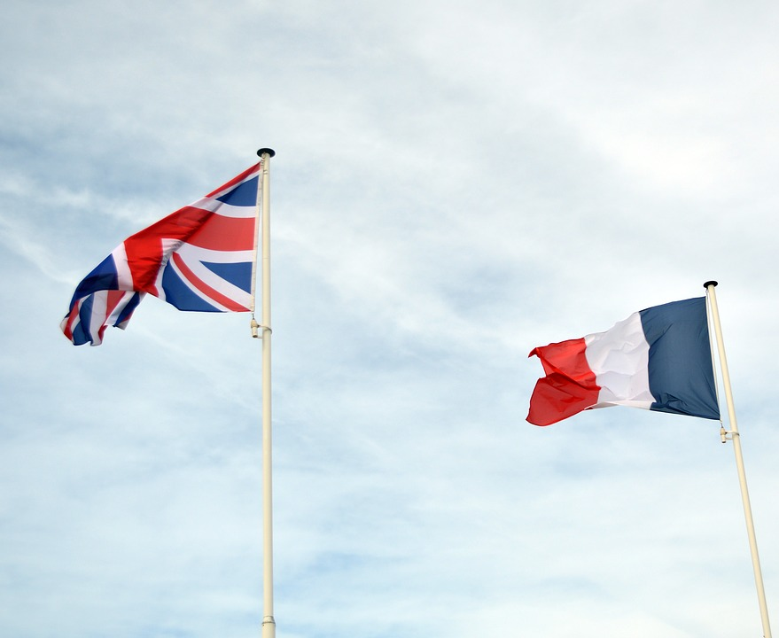 british and french flag